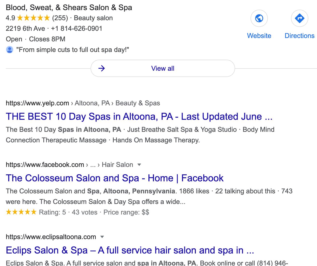 altoona spa services